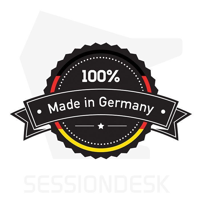 Sessiondesk: 100% made in Germany.