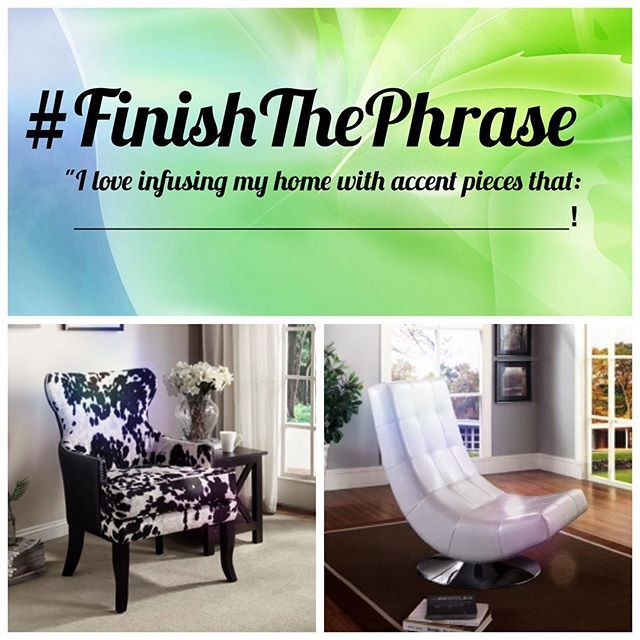 Our answer? We love Infusing our home with accent pieces that: Tell a story!   https://www.homedepot.ca/en/home/p.angus-ii-accent-chair-black.1000819424.html?eid=PS_GO_140203__ALL_PLA-411685&pid=1000819424&gclid=CNz_19uIu8kCFRCNaQodey8M1w  http://www.modernfurniturecanada.ca/electra-accent-chair-white-p-28255.html?gclid=CNzM4e2Iu8kCFQooaQod4uYJGw