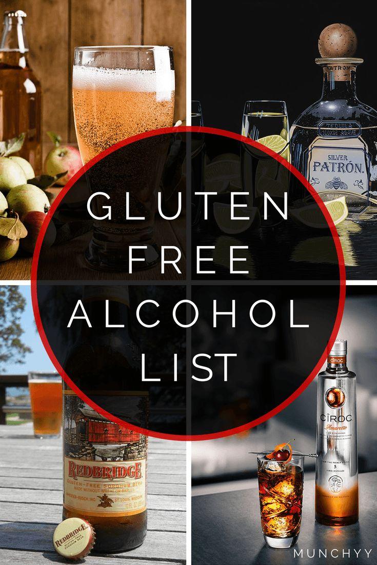 Gluten Free Alcohol List//gluten free recipes