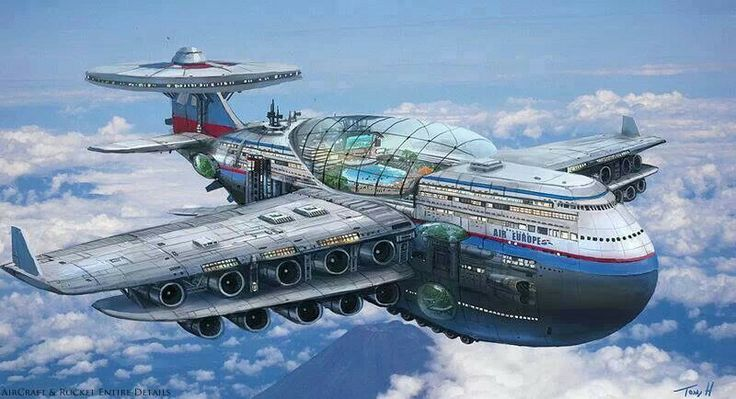 Old crui ships back home concept art swim pools airplane air