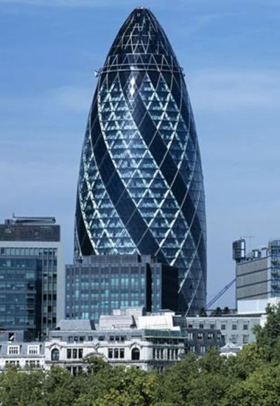 Gherkin Building (London, UK). OMG, this thing looks like a giant dildo!!!