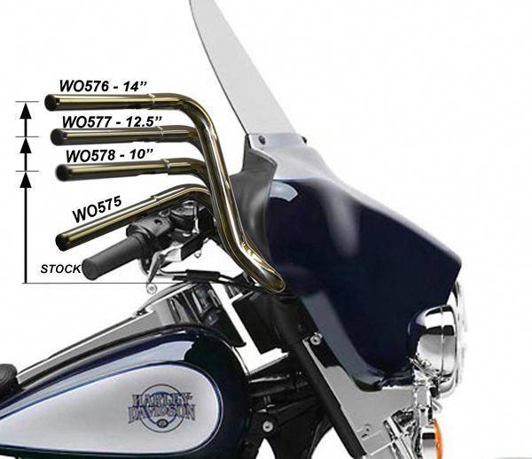 Harley Bagger Handlebars Wo575 Street Glide Harley Harley Bagger Harley Handlebars