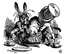 If I were a character in Alice in Wonderland, I believe I would be a female version of the Mad Hatter.