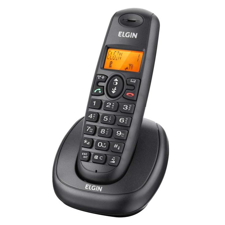 Telefone sem Fio Elgin TSF-7001 com Tecnologia DECT 6.0, Identificador de Chamadas, Viva Voz e Display Iluminado - Telefones sem fio no Pontofrio.com: Remote Control, Telefone Sem, De Telefones, R8990, Telefones Sem,  Remote