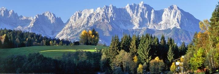 A beautiful shot of the Austrian Alps