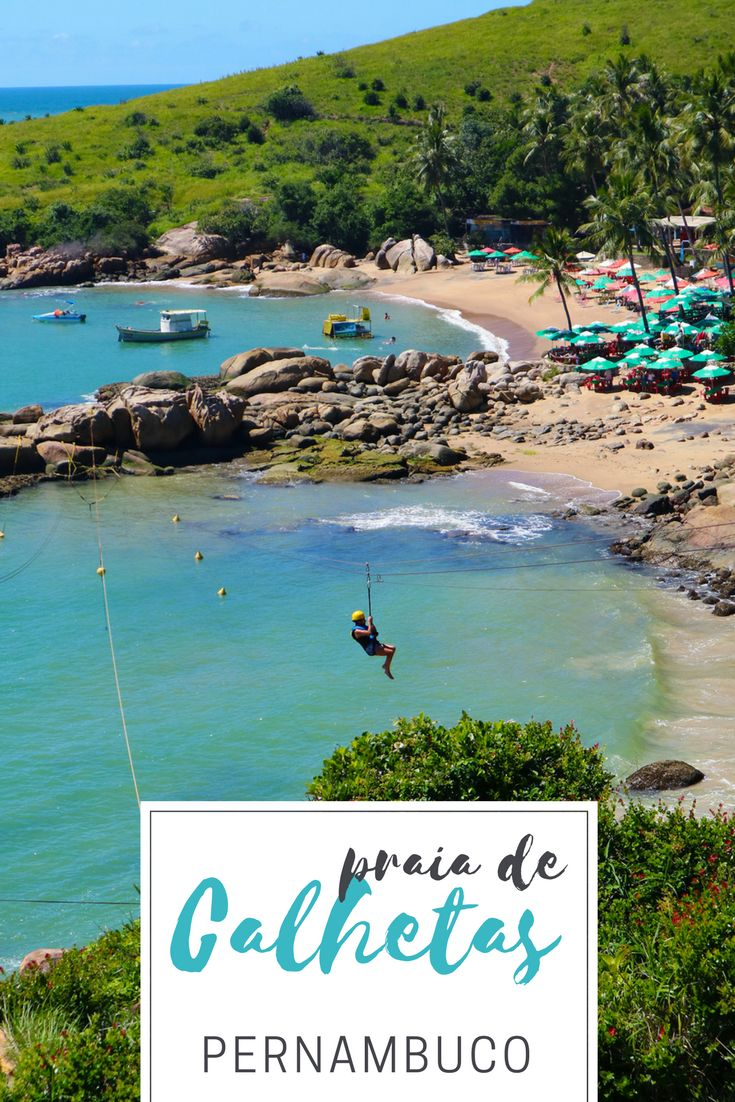Conheça as atrações da Praia de Calhetas, uma das mais lindas de Pernambuco. Dá até pra fazer tirolesa sobre o mar!