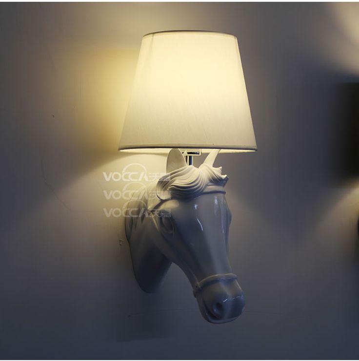 aliexpresscom acheter rsine tte de cheval lampe murale crative luminaire pour chambre