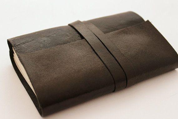 Black Leather Journal by GatzBcn on Etsy