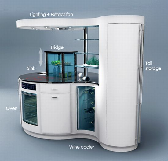 Compact Homes : Smart Kitchen For Small Apartments