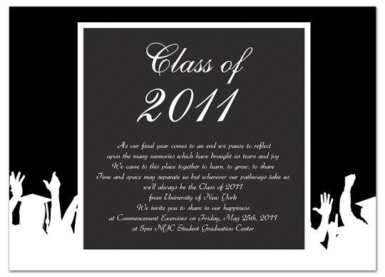 graduation ceremony invitation letter sample