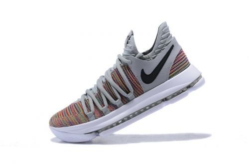 8916c2c02f2e Official Mens Nike KD 10 Multi-Color Black-Cool Grey-White 897815-900 For  Sale - ishoesdesign