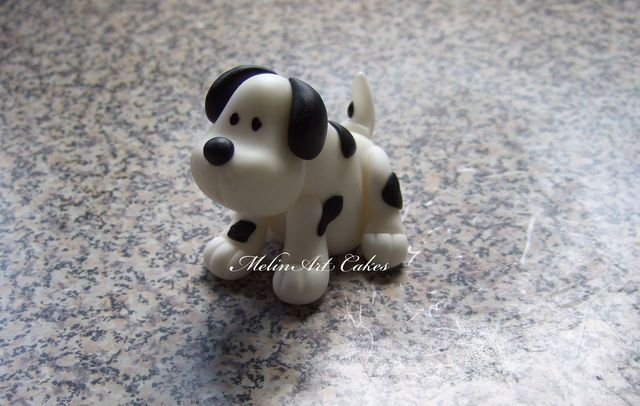 Little Puppy cake topper tutorial - by Melinartcakes @ CakesDecor.com - cake decorating website