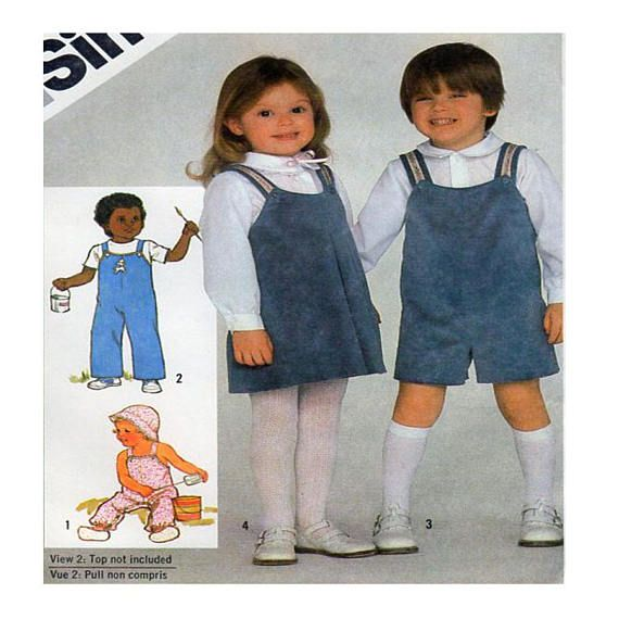 Simplicity 5631 Toddler Size 1/2 to 1  Child Overalls