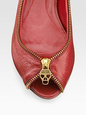 alexander mcqueen shoes. I love shoes with zipper detailing