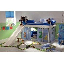 Dieses tolle Kinderbett bietet nicht nur komfortablen Stauraum, Ihr Kind kann sich die eigene Welt erschaffen und in seiner Fantasie vollkommen aufgehen.