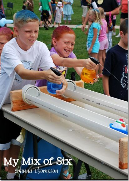 Used Spray Bottles To Squirt Boats Make Track Out Of Pvc