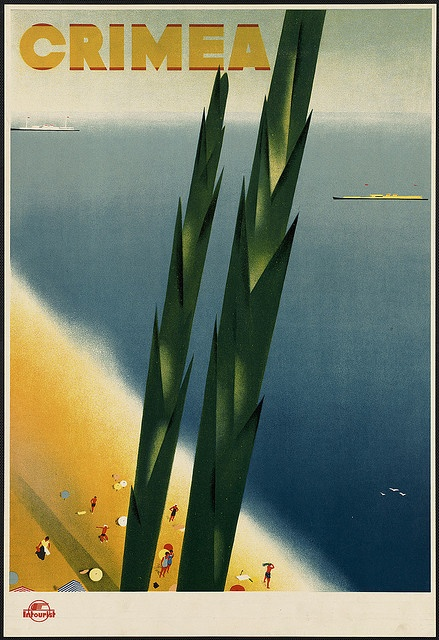 Vintage Crimea Poster from Boston Library Collection  http://www.flickr.com/photos/boston_public_library/3531539906/in/set-72157618058787787/