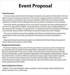 Event Proposal  Event Proposal Template Word