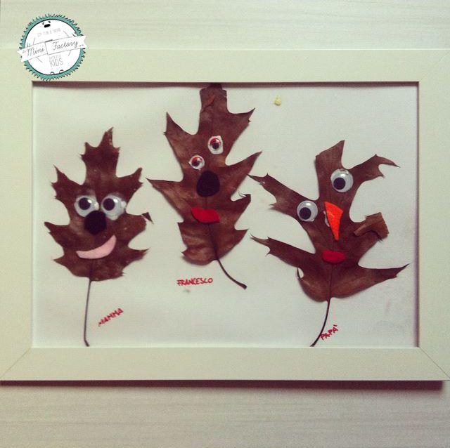 Faccia di foglia | MiniFactory Tutorial per diy & craft - Realizza facce buffe con le foglie secche! Attività per bambini - Create funny heads & puppets with leaves - Autumn fall activity, project for kids and toddlers