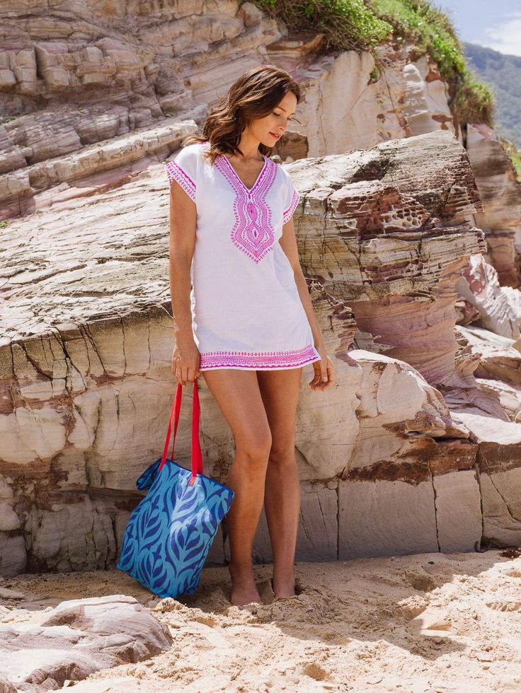 Looking forward to summer beach days and this Viola cover up is perfect for a fun day by the sea!