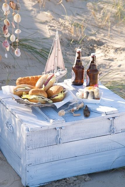 Beach picnic for two