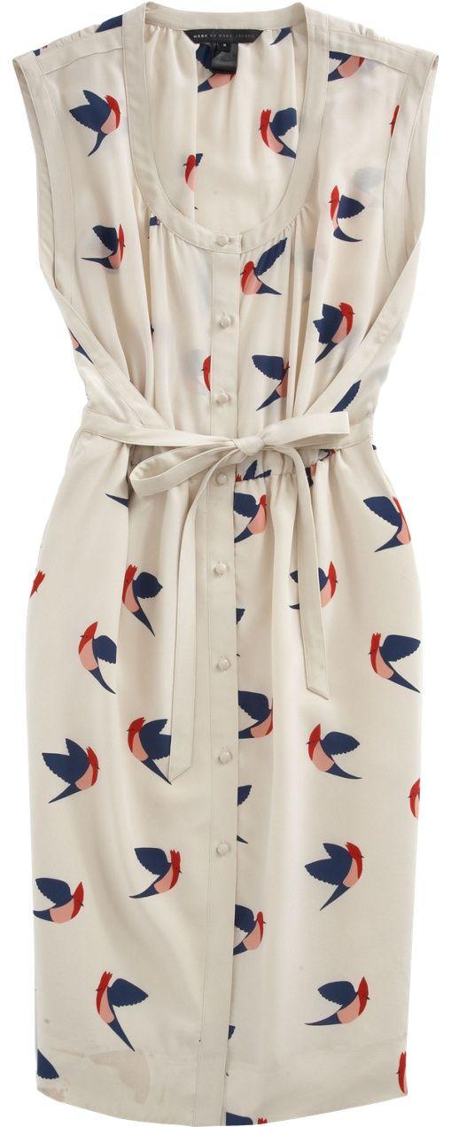 Bird Print Dress - Chic Fashion Pins : The Cutest Pins Around!!!