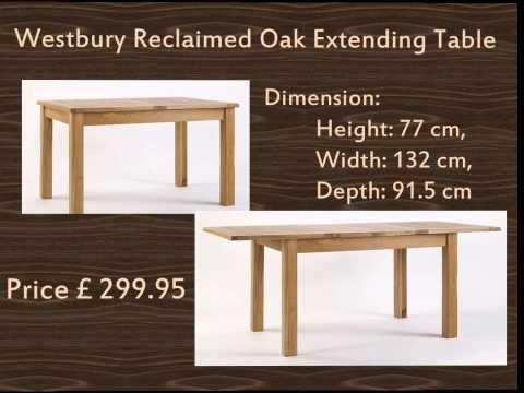 Westbury Reclaimed Oak Extending Table