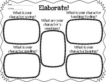 Adding Elaborative Details Graphic Organizer for Writing ...amazing resource for grades 2-6 to organize thoughts for a narrative piece...really helps students develop their characters! common core aligned
