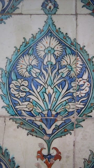 Turkish Iznik tile from the Ottoman period