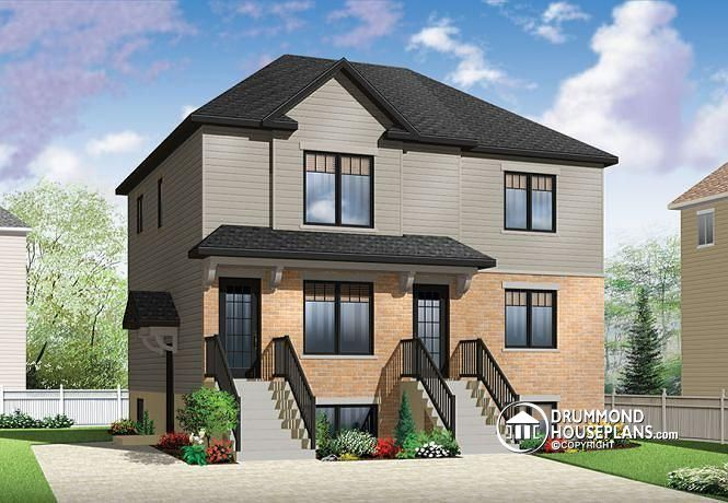 If two is good three is great economical 2 bedroom for Triplex designs