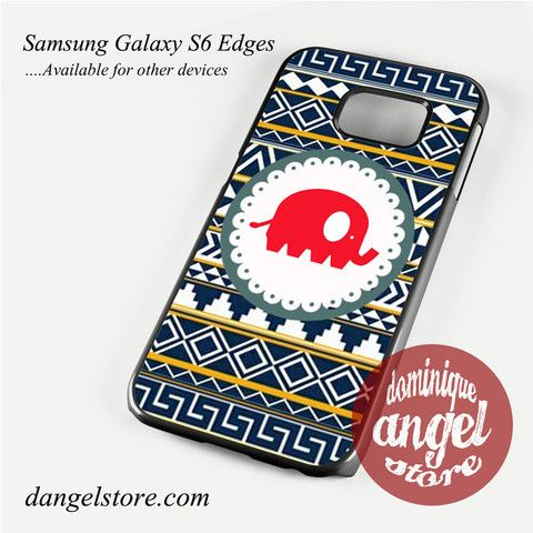 Cute Red Elephant Aztec Phone Case for Samsung Galaxy S3/S4/S5/S6/S6 Edge Only $10.99