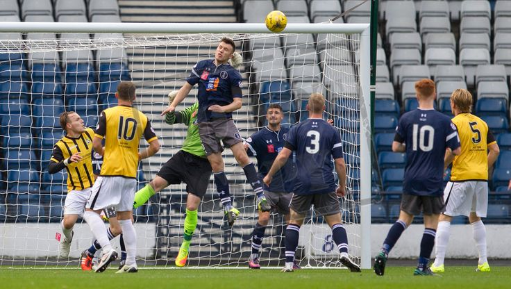 Queen's Park's Adam Cummins in action during the Ladbrokes League One game between Queen's Park and East Fife.