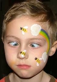 bee face paint - Google Search