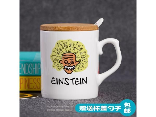 Mug Cup for Geek The programmer glass ceramic mug gift Einstein series 3 simple Creative Cup
