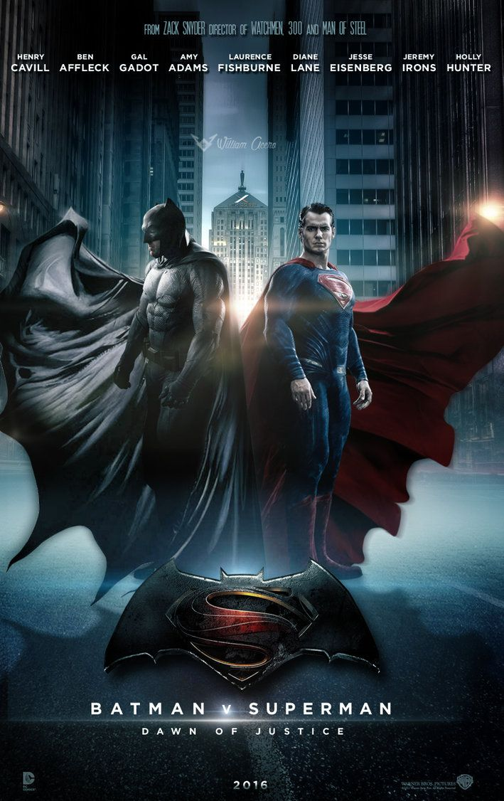 movie fan art and posters Batman v superman dawn of