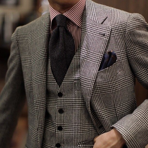 Glen Plaid Suit by B&Tailor - all individual lovely pieces, but too much together?