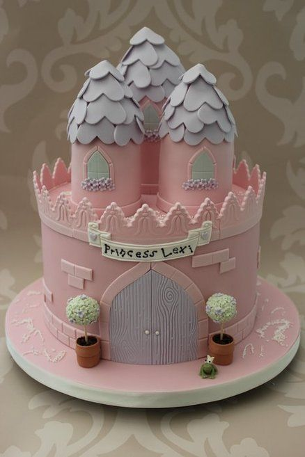 Princess Castle Cake Children Little Pink Princess