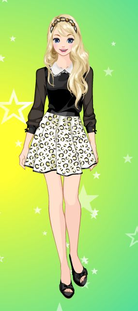 Online dress-up games - Love the skirt
