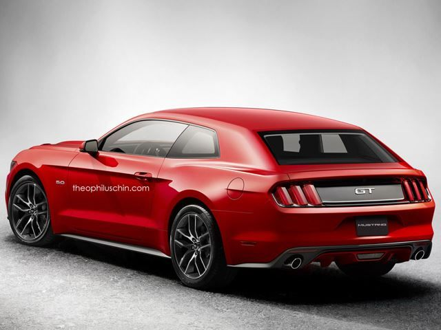 ford mustang hatchback rendering ford spy shots. Black Bedroom Furniture Sets. Home Design Ideas
