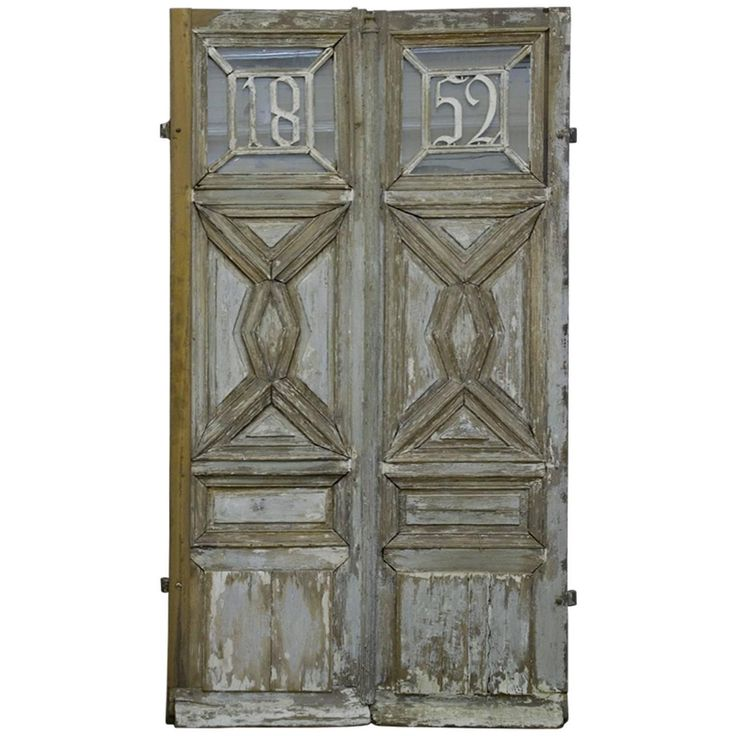 ******We both love these doors for the study entrance.     Will they fit?????French Wooden Main Entrance Door, 1852 | From a unique collection of antique and modern doors and gates at https://www.1stdibs.com/furniture/building-garden/doors-gates/