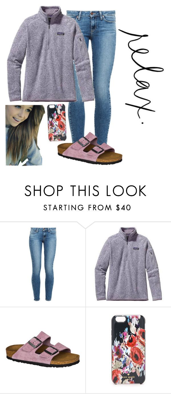 """My style!"" by sydneefashion ❤ liked on Polyvore featuring Paige Denim, Patagonia, Birkenstock and Kate Spade"