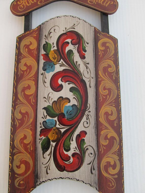 Beautiful Norwegian Rosemaling in Telemark Style