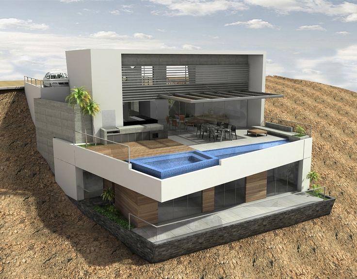 Casa palillos e 3 casas en pendientes pinterest - Casas en pendiente ...