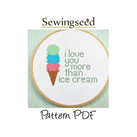 I Love You More Than Ice Cream: 71 Best Images About Wedding Cross Stitch On Pinterest