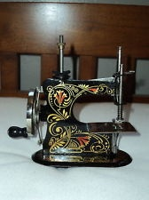 1890's Miniature Sewing Machine - Our Pet - In original box - made in Germany