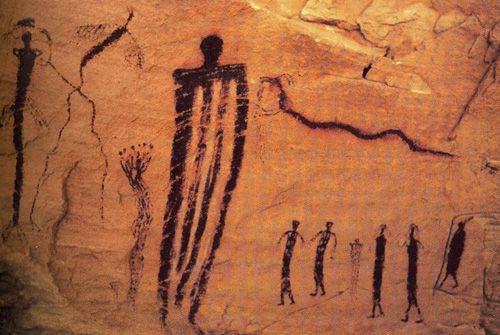 Alien cave painting 5000 BC
