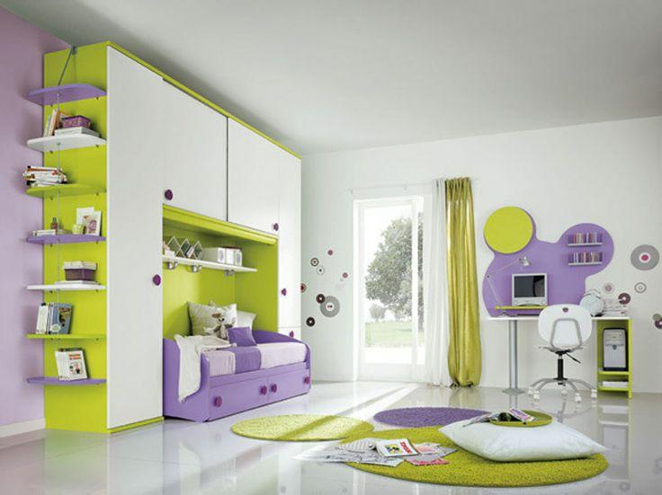 Cameretta Lilla E Arancione : Cameretta bianca e lilla: cameretta per bambini bianca e lilla