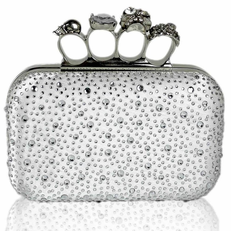 Silver knuckle rhinestone bag also Black, black silver and nude by Debs Dresses at ELLIOTT CHAMBERS - DUBLIN  14  Tel 01 2108670