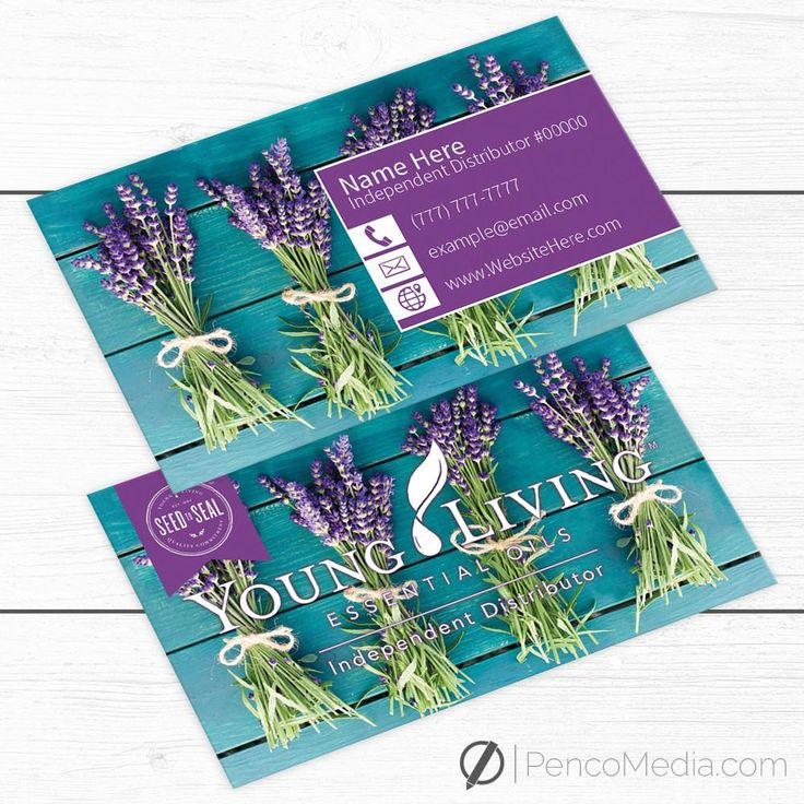Custom Young Living Business Card Design #4