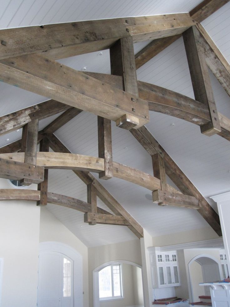 Reclaimed oak beam wrap home sweet townhome pinterest for Barn wood salvage companies